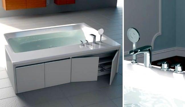 Lüks Küvet Modelleri : Vitra Banyo Dolaplı Küvet