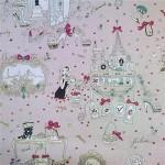 çocuk odası resimli duvar kağıdı