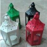 Kırmızı-beyaz-yeşil-siyah-metal-fener mumluklar