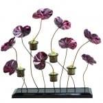 Mor-Çiçekler-Dekoratif-Çok-Şık-Mumluklar