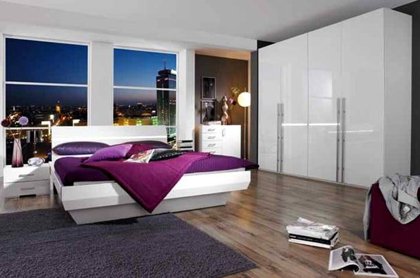 Beyaz Lake Modern Yatak Odası