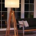 dekoratif ahşap ayaklı lambader
