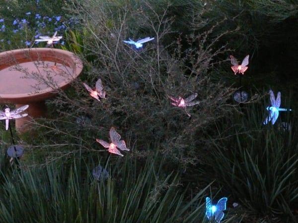 bahçe aydınlatma kelebek labma