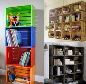 dekoratif kasa kitaplıklar