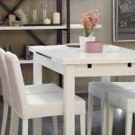 doğtaş beyaz mutfak masa takımı