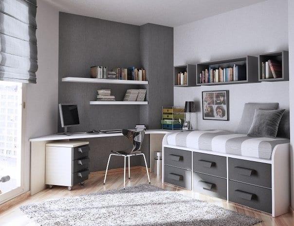 grı-genc-odası dekorasyonu