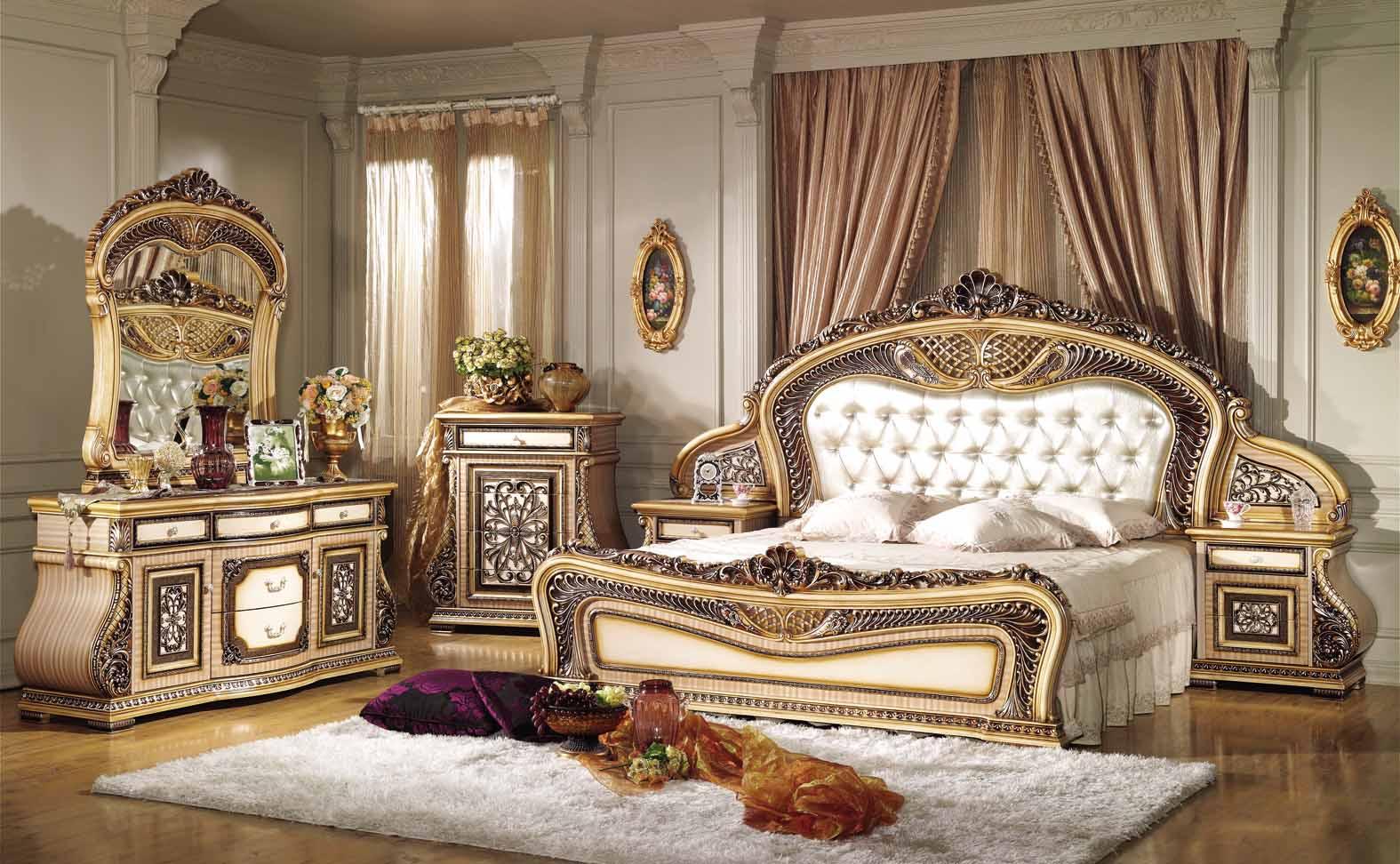 klasik mobilya-yatak-odası