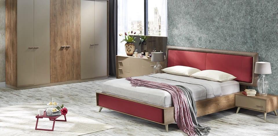 modern doğtaş yatak odası modelleri