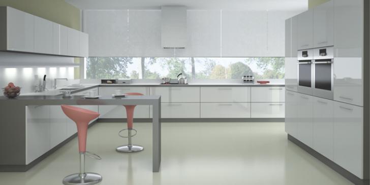 Beyaz Mutfak Dolabı Modelleri 2014