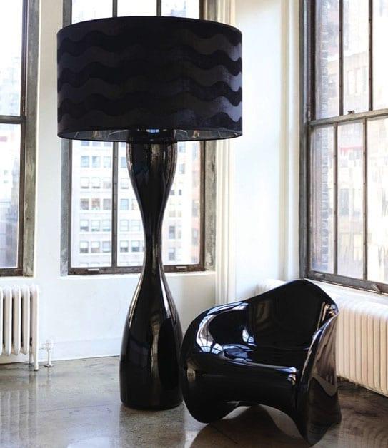 modern siyah lambader
