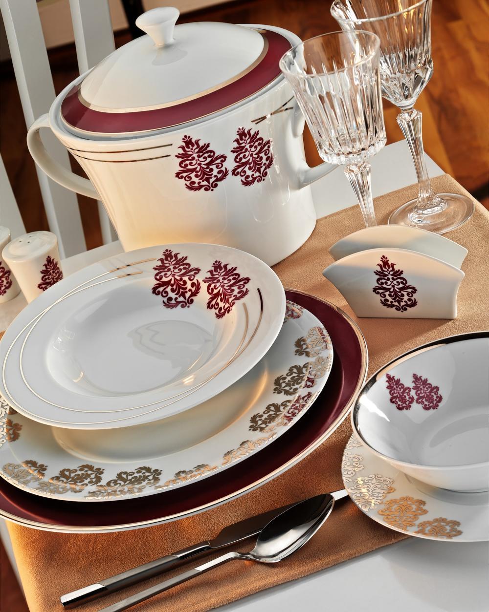 osmanlı desenli kütahya porselen yemek takımı