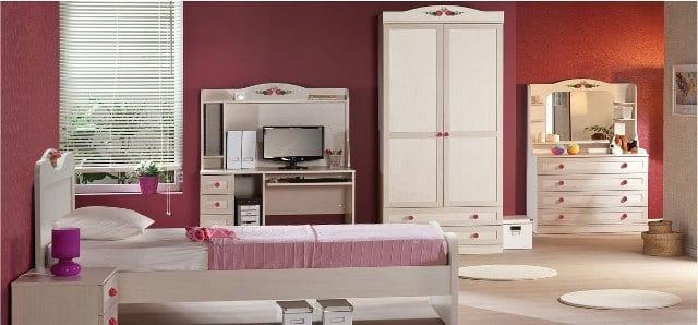 pembe-modern-şık-genç-odası-dekorasyon-fikirleri