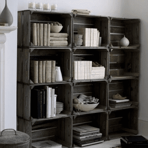 sebze kasasından kitaplık