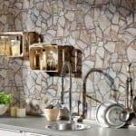 taş desenli dekoratif duvar kağıtları