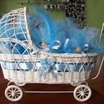 tekerlekli-mavi-erkek-bebek-beşiği modeli