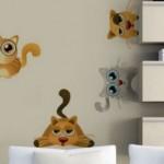 çocuk-odası kedi sticker-modelleri