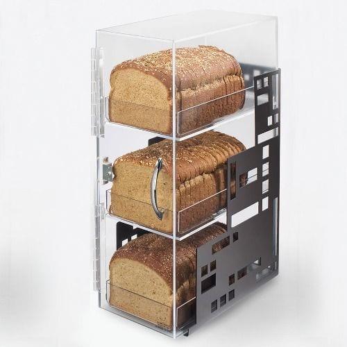 üç katlı şeffaf ekmek kutusu