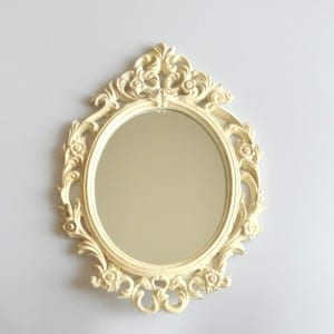 2017 Krem Oymalı Dekoratif Ayna