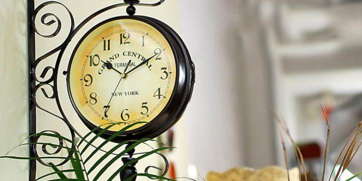 Dekoratif Çift Taraflı İstasyon Saati Modelleri 2014-2015