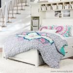 2018 genç kız odası yatak örtüleri