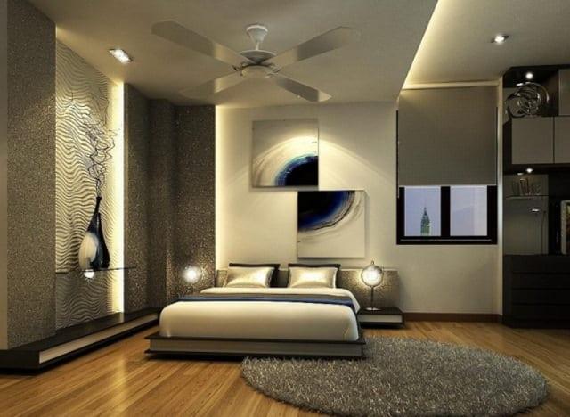 Kahverengi-ve-gri-modern-yatak-odası-dekorasyon-fikirleri
