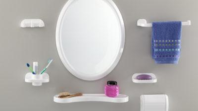 Dekoratif Banyo Ayna Seti Modelleri