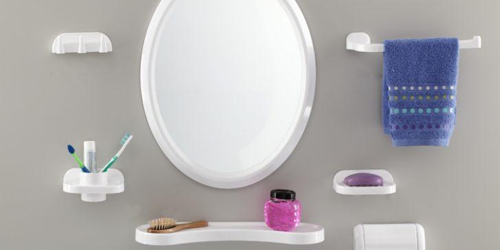 Dekoratif Banyo Ayna Seti Modelleri 2015