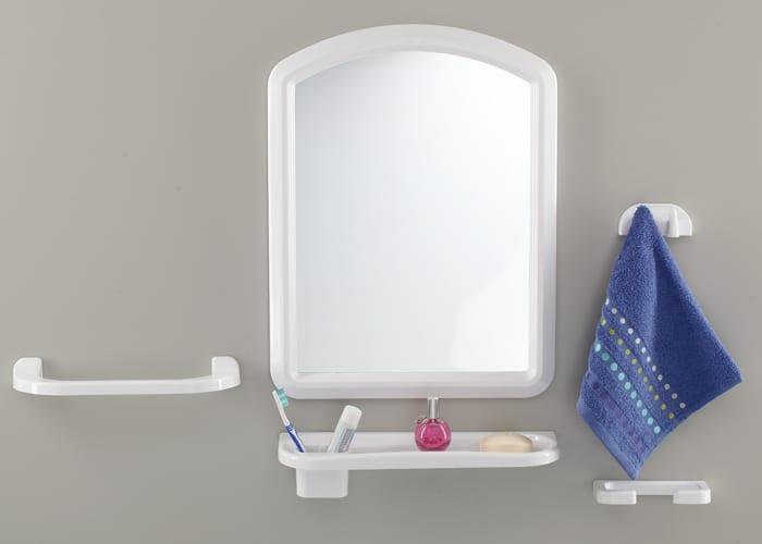 beyaz banyo ayna seti