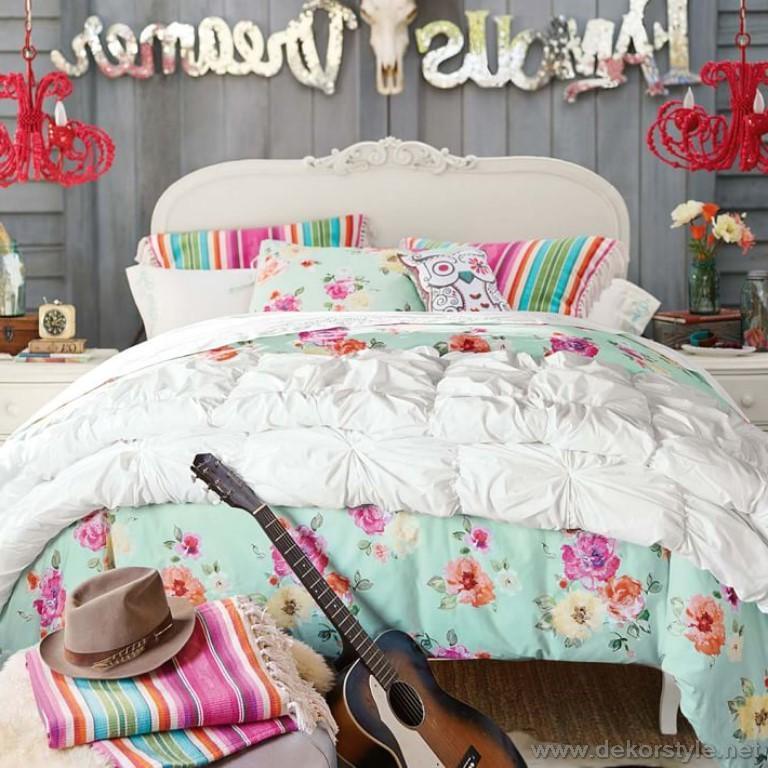 Çingene desenli 2018 genç kız yatak örtüleri