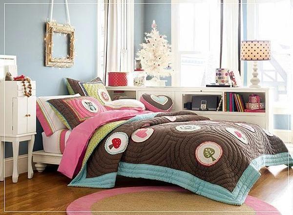 Genç kız yatak örtüsü
