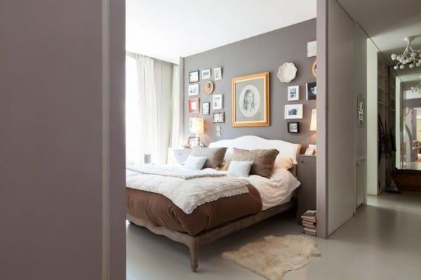 Gri Modern Yatak Odası Modeli