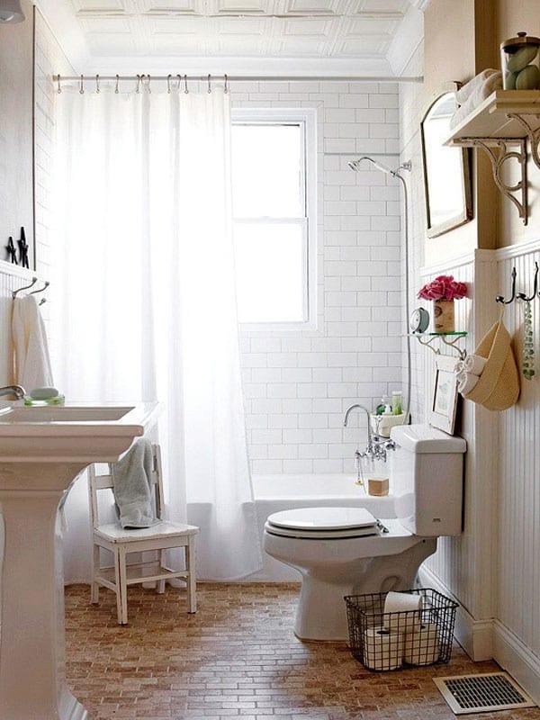 Küçük banyolarda dekorasyon
