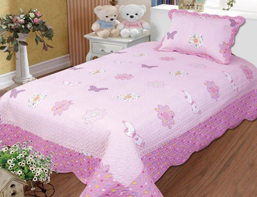 Kelebek tek kişilik genç desenli yatak örtüsü