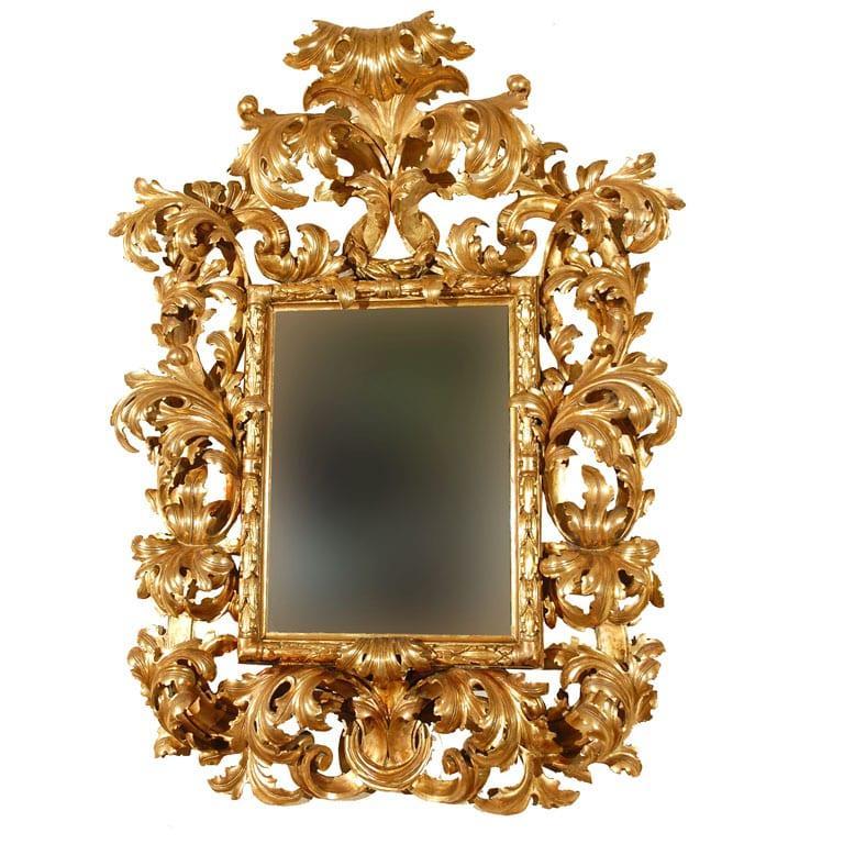 Varak Ayna Modelleri - Klasik Oymalı Ayna