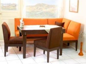 koçtaş Turuncu renkli mutfak köşe takımı modeli