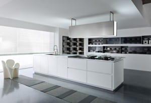 modern beyaz ada mutfak