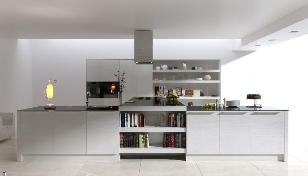Modern ada mutfak modeli dekorstyle - Modern Beyaz Ada Mutfak Dekorstyle