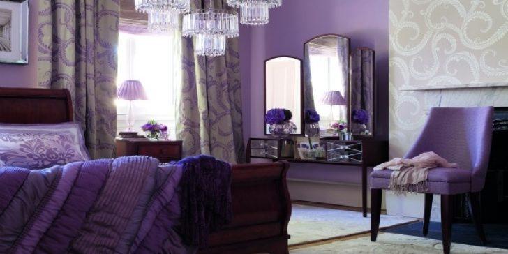 Mor Renkli Yatak Odası Dekorasyon Önerileri