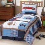 resimli çocuk yatak örtüsü