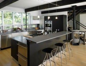 siyah ada mutfak