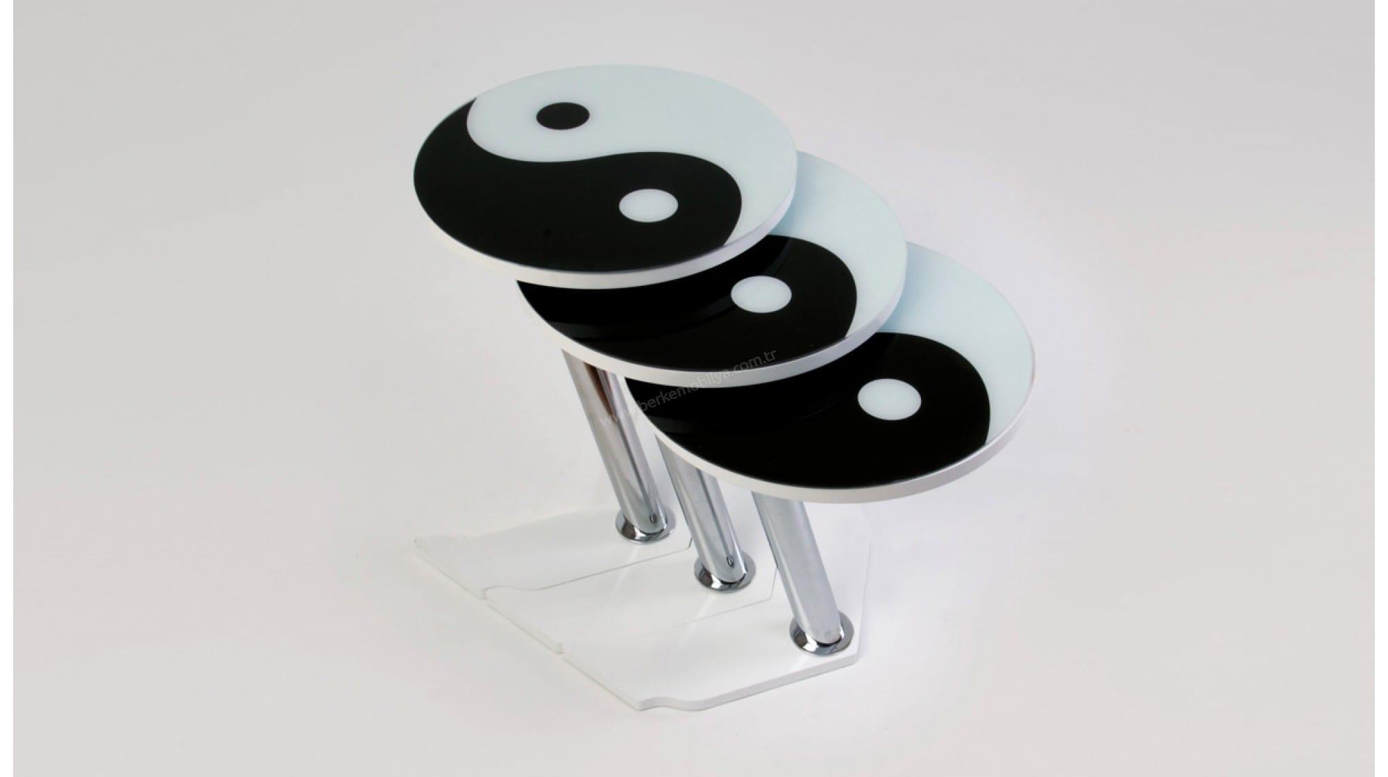siyah beyaz Zigon Sehpa Modelleri