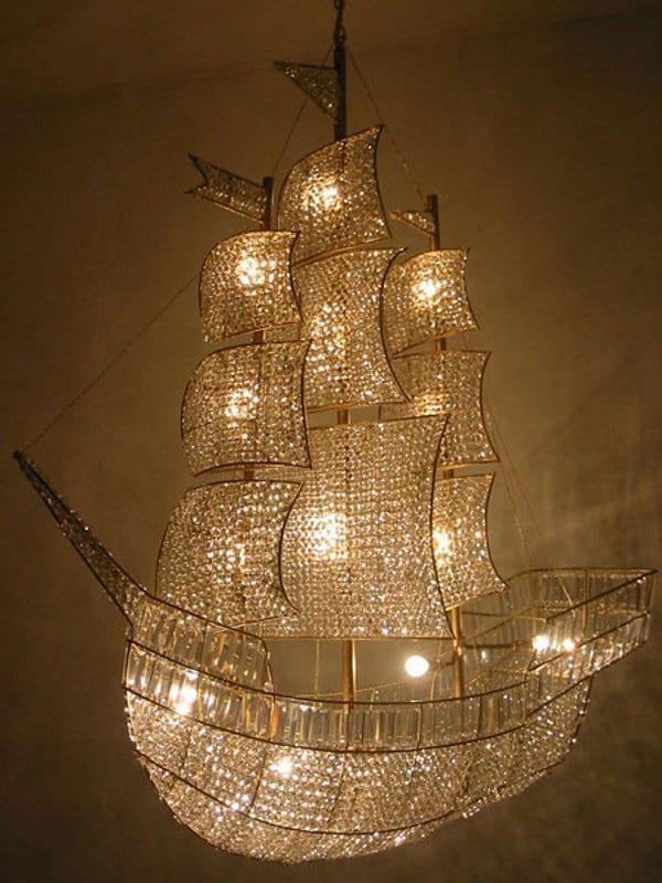 taşlı gemi avize