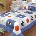 top-tek-kisilik erkek çocuk yatak örtüsü