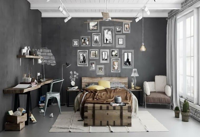 Yatak Odalarında Gri Renk Dekorasyonlar