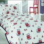 yelkenli çocuk yatak örtüsü