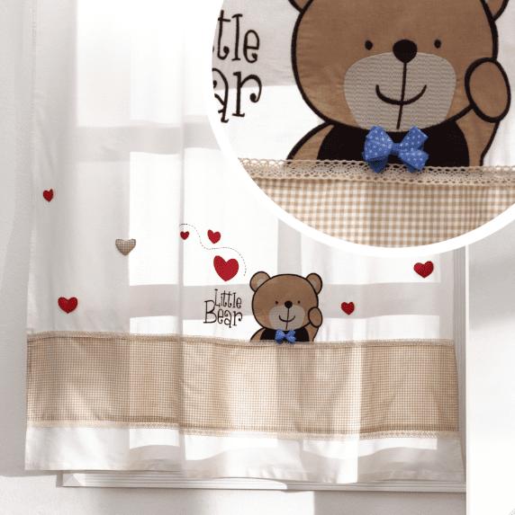 yeni moda erkek bebek odasi perde modelleri