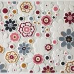 çiçek desenli sanat halı modeli