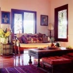 Bohem stili oturma odası