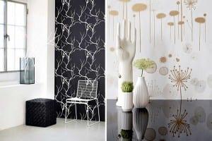 Farklı İki Tasarım Modern Banyo Duvar Kağıdı Modeli