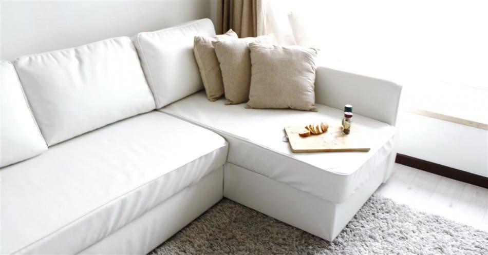 Ikea Manstad beyaz köşe koltuk modeli